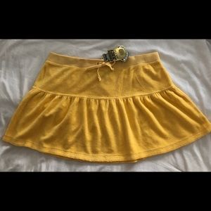 Juicy Couture BN yellow terry ruffle skirt Sz L